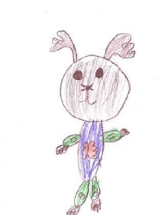 ... e o desenho dela que venceu o concurso