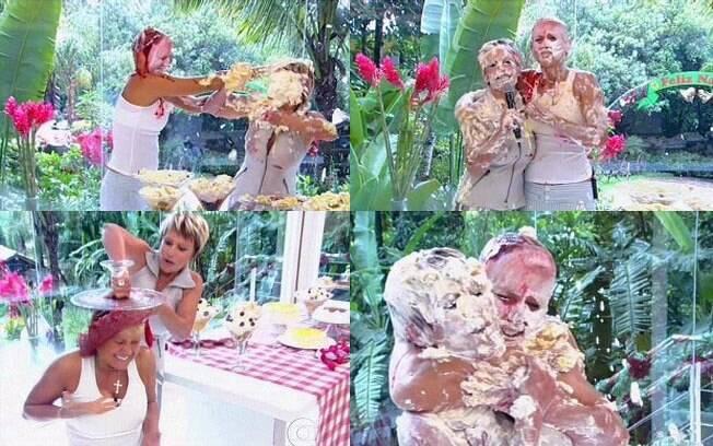 Xuxa e Ana Maria Braga fazem briga de comida: embate já clássico no