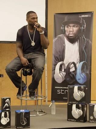 50 Cent esteve na IFA para divulgar fones de ouvido