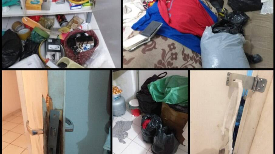 Registros da casa de Falilatou após ação Policial