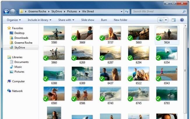 SkyDrive para Windows permite arrastar e soltar arquivos a partir do Windows Explorer