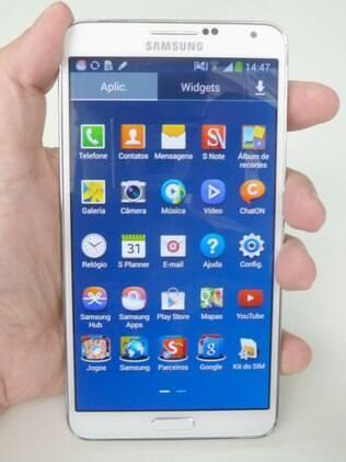 Galaxy Note III é a versão mais recente do phablet da Samsung