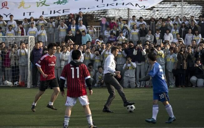Beckham em ação em Pequim