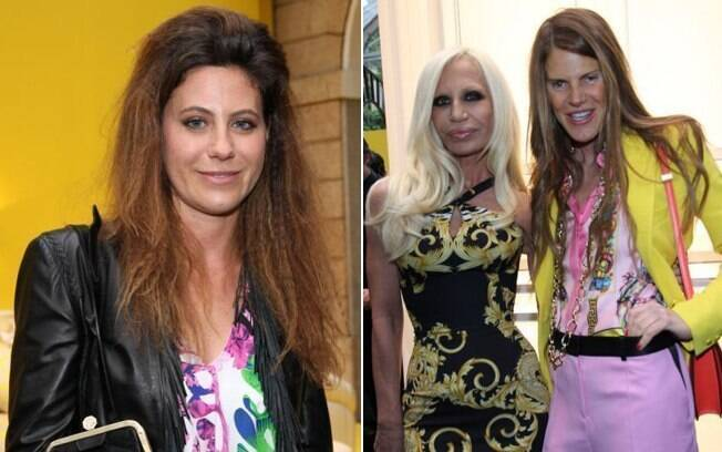 Em Milão: Francesca Versace, Donatella Versace e a editora de moda Anna Dello Russo
