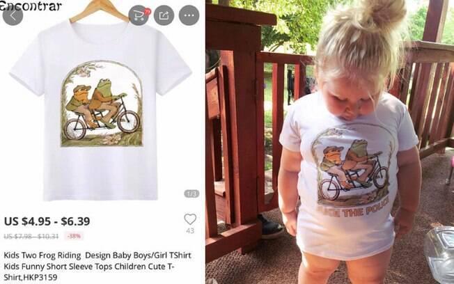 A mãe também manifestou indignação com o produto que recebeu: