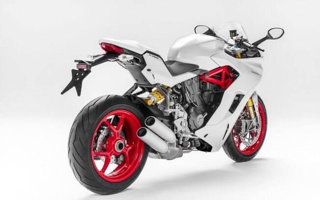 A cor branca da Ducati Supersport S, apresentada no Salão Duas Rodas, ainda não está confirmada para chegar