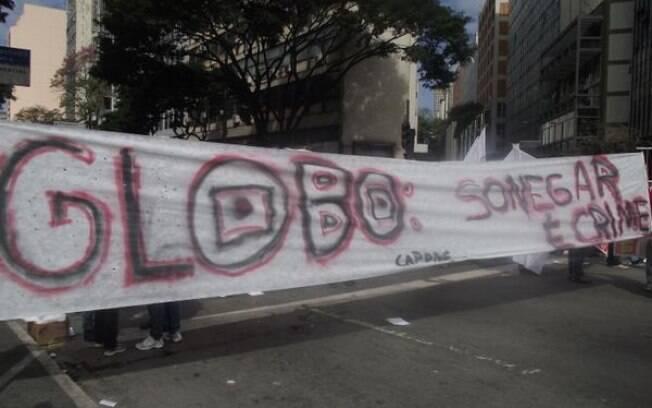 Belo Horizonte também registrou protesto anti-Rede Globo neste domingo. Foto: Reprodução/Facebook