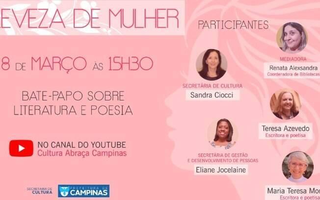 Roda de conversas on-line celebra Dia Internacional da Mulher