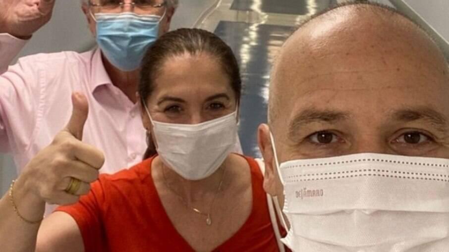 Caio Ribeiro realiza penúltima sessão de quimioterapia