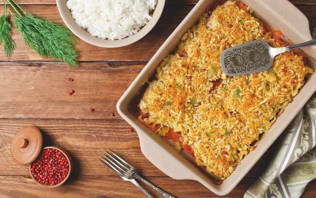 Foto da receita Arroz de forno com carne moída e queijo pronta.