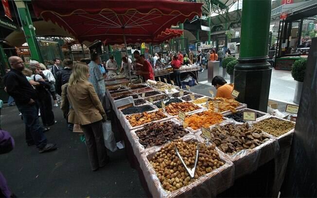 No Borough Market, guloseimas podem ser degustadas