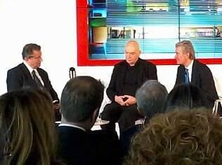 Claudio Luti e Jean Nouvel discutem o que será apresentado na mostra italiana