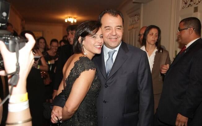 Sérgio Cabral e Adriana Ancelmo em festa no Rio