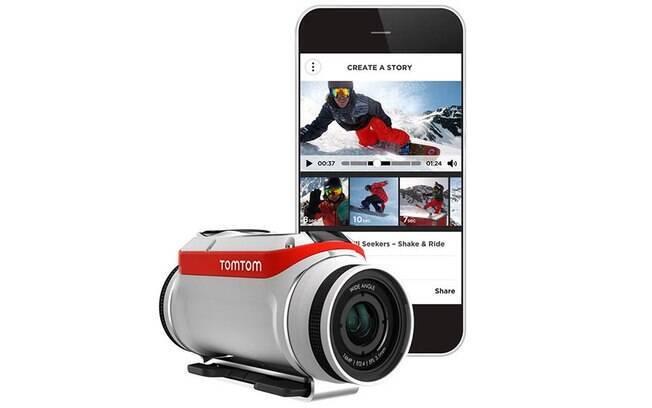 Bandit é o nome da linha de câmeras de ação da TomTom, conhecida empresa de GPS