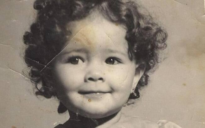 Nana Gouvêa com um ano de idade