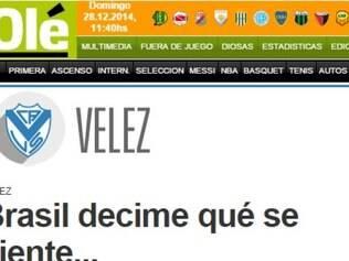 Diário Olé coloca volante do Vélez Sarsfield na mira do Cruzeiro