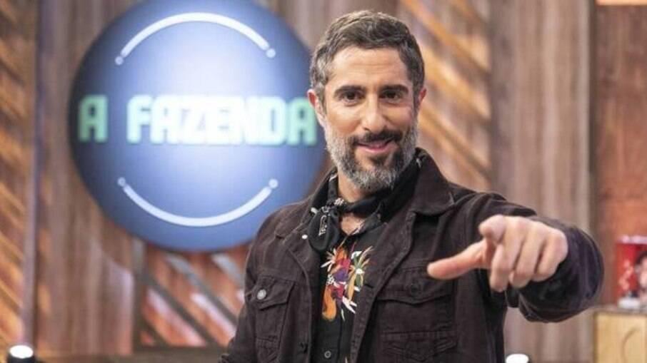 Marcos Mion durante a apresentação de