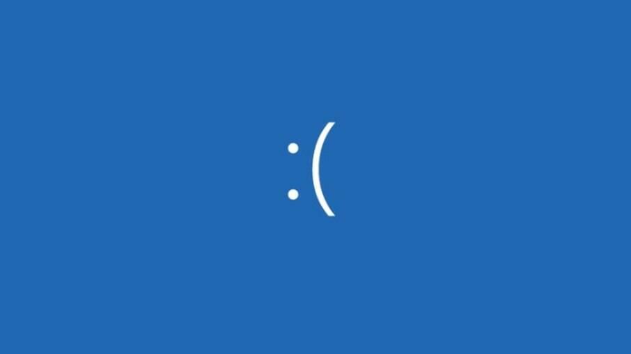'Tela azul da morte' do Windows