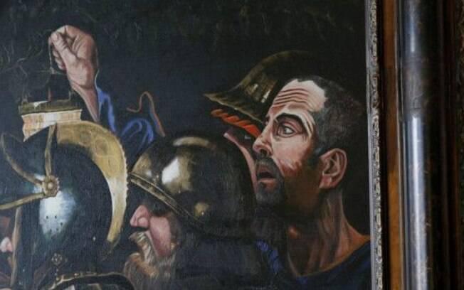 Autorretrato em um dos quadros que decoram a casa de Graham