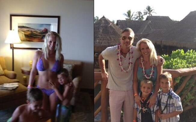 Britney Spears curte feriado no Havaí com o noivo, Jason Trawick, e os filhos Sean Preston e Jayden James