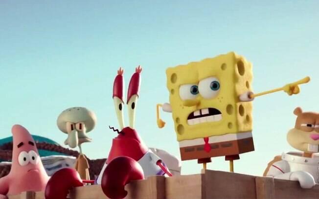 Bob Esponja, Patrick e toda a turma da Fenda do Biquini seriam mutantes, segundo teoria da conspiração. Filme sobre o universo do desenho da Nickelodeon estreia na quinta-feira (5)