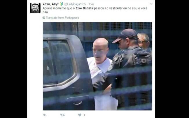 Prisão de Eike Batista foi motivo de piada relacionada ao desempenho dos internautas no Enem 2016