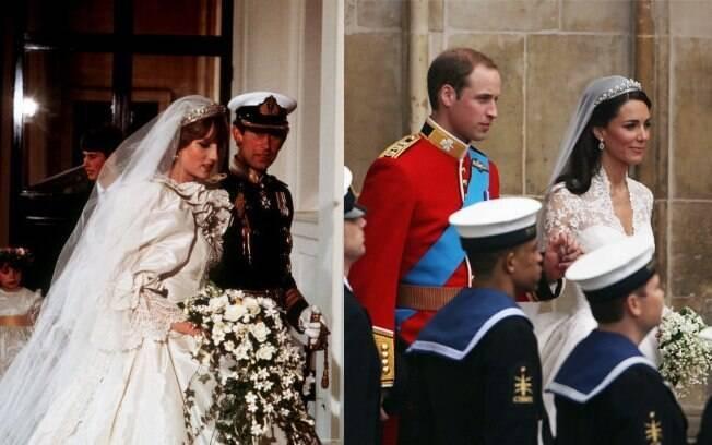 A diferença de estilo: O buquê rebuscado de Diana e o de Kate, bem mais simples