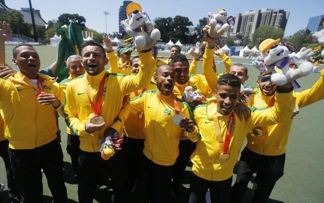 Futebol de 7 confirmou o favoritismo com ouro sobre a Argentina
