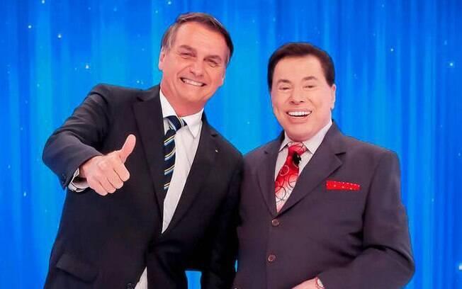 Jair Bolsonaro e Silvio Santos estão próximos e isso beneficia o SBT