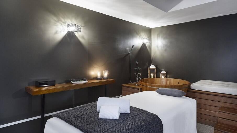 Sala de massagens do The Spa at Renaissance