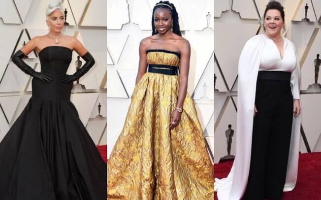 Os looks das famosas chamaram atenção na cerimônia do Oscar que aconteceu na noite de domingo (24), em Los Angeles