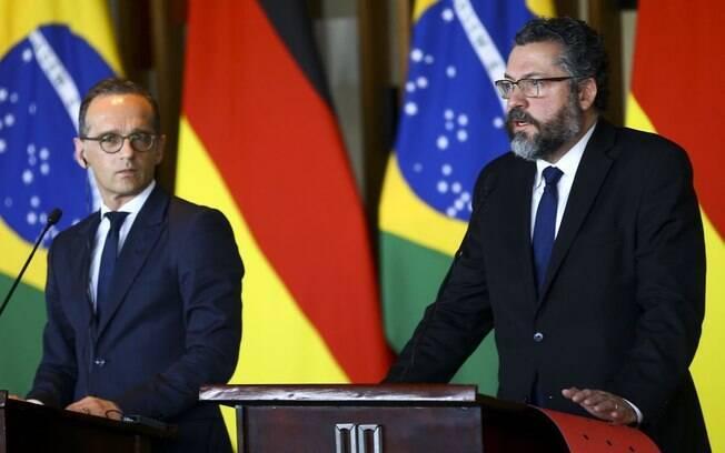 Conversa foi centrada no apoio do Alemanha para concretização do acordo UE-Mercosul