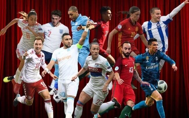 Os concorrentes ao gol mais bonito da Uefa
