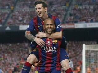 Dani Alves e Messi