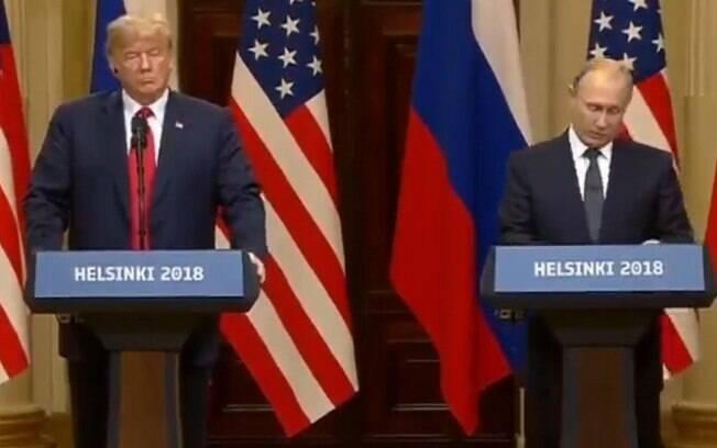 Coletiva de imprensa de Putin e Trump em Helsinque