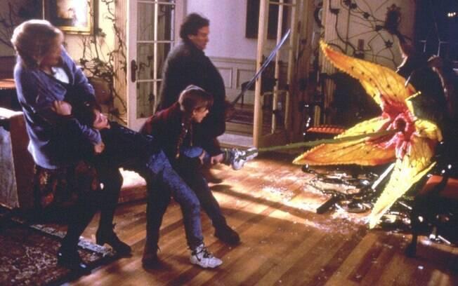 As plantas carnívoras tomaram conta da mansão no filme original
