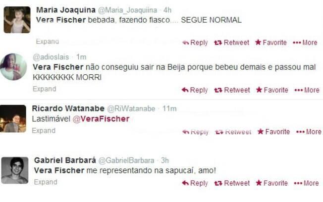 Internautas falam sobre Vera Fischer nas redes sociais
