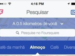 Foursquare lança aplicativo que não faz mais 'check-in'.