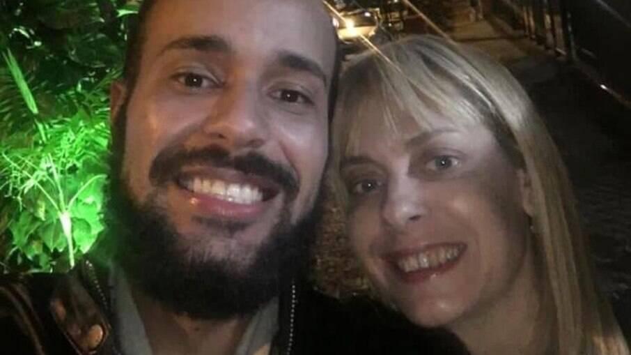 Pedro Paulo Gonçalves e Christiane Louise, a dubladora assassinada