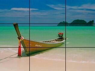 Regra dos terços divide a imagem em nove partes