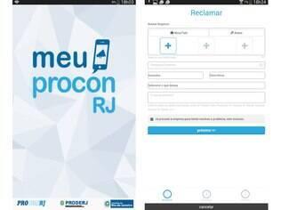 Gratuito, o aplicativo Meu Procon-RJ permite que o usuário faça reclamações direto no smartphone, seja ele Android ou iOS