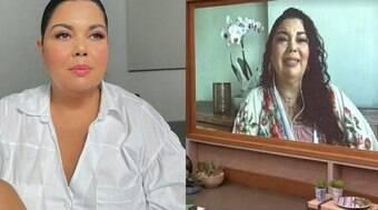 Atriz Fabiana Karla chora em homenagem a Paulo Gustavo