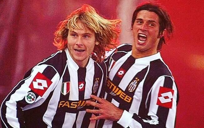 Nedved e Alessio Tacchinardi