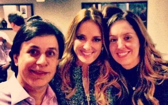 Ticiane Pinheiro encontrou com Patrícia e Tom Calvalcante na casa de Faustão