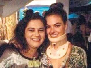 Pelo Instagram, a atriz disse que se recupera bem e que em breve estará de volta