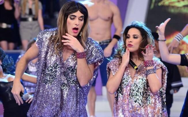Wanessa ensina suas novas músicas para Rodrigo Faro