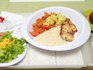 Um dos pratos servidos na clínica