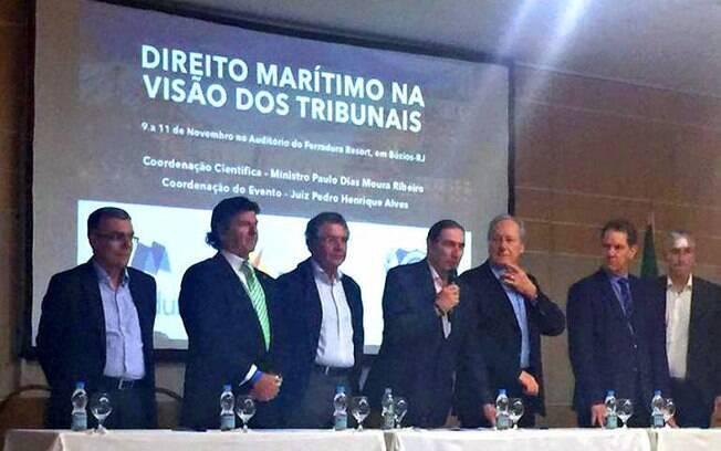 Luiz Fux, Marco Aurélio, Lewandowski (do STF), Ribeiro e Noronha (do STJ) participam de evento em resort em Búzios