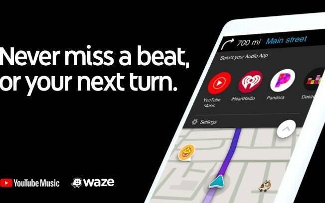 Parceria Waze e YouTube Music