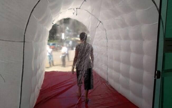 Prefeitura de Boituva instala túnel de desinfecção na cidade com objetivo de conter avanço do novo coronavírus